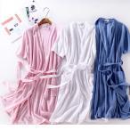 レディース バスローブ 綿100 半袖 夏用 薄手 ホテル メンズ ワッフル バスローブ 男女兼用 ナイトガウン メンズ バスローブ メンズ タオル地 バスローブ