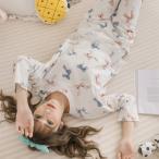 パジャマ ルームウェア レディース 春夏 長袖パジャマ 姫 レース×リボン柄 上下セット パジャマ ルームウェア 部屋着 寝巻き ルームウェア 女性 可愛い