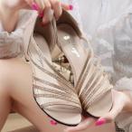 サンダル レディース 靴 きれいめ 春夏 美脚ヌーディードレープ 履きやすい 痛くない レディースサンダル 通勤 OL 2色 サンダル