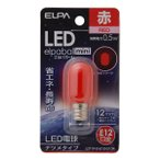 (業務用セット) ELPA LEDナツメ球 電球 E12 レッド LDT1R-G-E12-G104 〔×20セット〕