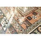 屋内 室内 用 キリム 柄 薄型 玄関マット ロイヤルパレス 14684 オレンジ サイズ 約 67х105 cm 折りたたみ 可能 薄型