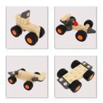 QuadPro 木製 おもちゃ ブロック 車 子供 木のおもち