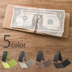 PUレザー マネークリップ ユニセックス レザー 二つ折りサイフ 二つ折り財布 小物 財布 革 カード入れ 定期入れ cwl-0001
