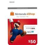 (ネコポス送料無料)(3DS/WiiU)NINTENDO eShop Card $50(北米版)(新品)
