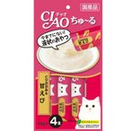 (正規品)いなばペット チャオ)ちゅーる とりささみ&甘えび(14g*4本) (12600053)