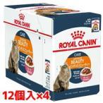 ロイヤルカナン ROYALCANIN キャットフード FHN-WET 成猫用 インテンスビューティ 美しさを保ちたい猫用 85g×12P×4ボール