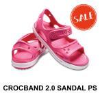 【クロックス crocs キッズ】crocband2.0 sandal ps/クロックバンド2.0 サンダル/パラダイスピンクxカーネーション