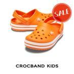 【クロックス crocs キッズ】Crocband Kids/クロックバンド キッズ/オレンジ
