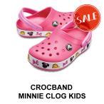 【クロックス キッズ】Crocband Minnie Clog Ks/クロックバンド ミニー クロッグ キッズ/パラダイスピンク
