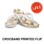 【クロックス メンズ レディース】Crocband Printed Flip/クロックバンド プリンテッド フリップ/ホワイトxマルチ