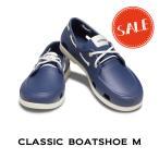 【クロックス crocs メンズ】classic boat shoe men/クラシック ボート シュー メン/ネイビーxスタッコ