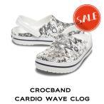 【クロックス crocs メンズ レディース】crocband cardio wave clog/クロックバンド カーディオ ウエーブ クロッグ/ホワイトxブラック