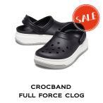 【クロックス crocs メンズ レディース】corcband full force clog/クロックバンド フル フォース クロッグ/ブラックxホワイト
