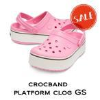 【クロックス crocs キッズ】crocband platform clog GS/クロックバンド プラットフォーム クロッグ GS/ピンクレモネードxラベンダー