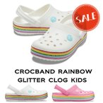 【クロックス crocs キッズ】crocband rainbow glitter clog kids/クロックバンド レインボー グリッター クロッグ キッズ