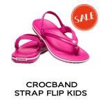 【クロックス crocs キッズ】crocband strap flip kids/クロックバンド ストラップ フリップ キッズ