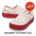 【クロックス crocs レディース】crocband platform clog/クロックバンド プラットフォーム クロッグ