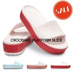 【クロックス crocs レディース】crocband platform slide/クロックバンド プラットフォーム スライド