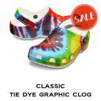 【クロックス メンズ レディース】classic tie dye graphic clog/クラシック タイダイグラフィック クロッグ
