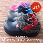 クロックス キッズ crocs クラシック ブリッツェン3.0 クロッグ キッズ classic blitzen3.0 clog kids ボアの画像