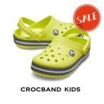 【クロックス crocs キッズ】crocband kids/クロックバンド キッズ/シトラスxスレートグレー