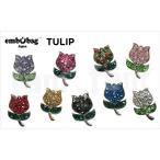 クロックス アクセサリー エンボバッグ tulip チューリップ フラワー