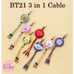 BT21 3 in 1 充電ケーブル / メンバー7種選択別 3in1 CABLE