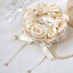 リングピロー 手作りキット 手芸 ローズのリングピロー シャンパンゴールド 結婚式 ウェディング
