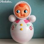 キッチュキッチン おきあがりこぼし人形 Lサイズ ホワイト/ピンク Tumbler Girl L White/Pink