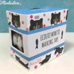 マリーニ*モンティーニ エクート・ミネット 猫のマスキングテープ 2柄セット くろ