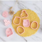 大人気☆すみっコぐらしのクッキー型6個セット♪とかげ しろくま ねこ ぺんぎん? とんかつ たぴおか すみっこぐらし