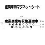 マグネットシート 産廃 002 【産業棄物収集運搬車 許可表示用 マグネット 名入れ製作】