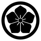 カッティングステッカー 家紋ステッカー 101 丸に桔梗 13cm