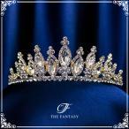 ティアラ ティアラ ウエディング ヘッドドレス  ブライダル 髪飾り 王冠 ft8044gd