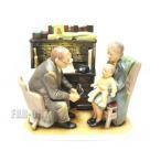 ノーマン・ロックウェル First Annual Visit 赤ちゃんの初めての検診 フィギュアリン 1980年 GORHAM