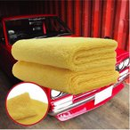 ショッピングPTタオル AguaMirai アグアミライ プレミアム  フチなし マイクロファイバークロス 60x40cm(2枚入り)吸水 速乾  洗車 洗車タオル
