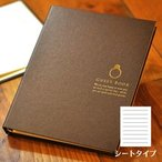 ショッピング結婚 【売れてます】光沢カバーの芳名帳(ゲストブック) ショコラ・リング シートタイプ/結婚式