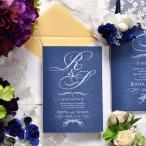 \キラキラネイビーオトナな招待状/招待状手作りキット「イニシャルナイト」(1名様分)/パーティー/結婚式