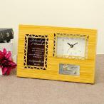 ショッピング結婚式 結婚式両親プレゼント サンクスオルゴール(クロック)ナチュラル/結婚式/贈呈品・プレゼント