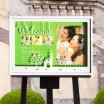 ショッピング結婚 送料無料PhotoウェルカムボードBOXホワイトチャペル ライム
