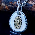 グアダルーペの聖母 マリア カットエッジプレート メンズ シルバー925 ペンダント ネックレス