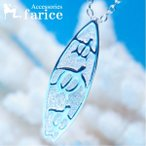 3ホヌ(海がめ)レリーフデザイン ハワイアンジュエリー サーフボードペンダント ネックレス