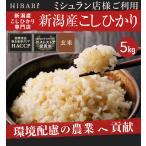 米 5kg お米 コシヒカリ 玄米 平成30年産 送料無料 新潟県産 タイムセールの画像