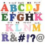 【書体1】【#coo】アルファベットのカットワッペン【4.5cm】