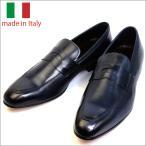イタリア製 メンズ シューズ コイン ローファー レザー ビジネスシューズ BLU ブルー 子牛 紳士靴 革靴 スリップオン スリッポン vavi