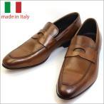 イタリア製 メンズ シューズ コイン ローファー レザー ビジネスシューズ ブラウン 子牛 紳士靴 革靴 スリッポン vavi
