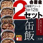 吉野家 缶飯 牛丼 豚丼 牛焼肉丼 豚しょうが焼 焼鶏丼 焼塩さば 6種12缶セット 非常用 常温保存 ごはん付き 缶詰 非常食 保存食 吉牛グッズ