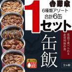 吉野家 缶飯 牛丼 豚丼 牛焼肉丼 豚しょうが焼 焼鶏丼 焼塩さば 6種6缶セット 非常用常温保存 ごはん付き 缶詰 非常食 保存食 吉牛グッズ