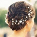 Hairpin - 髪飾り 花 フラワー ホワイト パール ティアラ ヘアアクセサリー レディース ヘアピン 髪留め ヘッドアクセ 着物 和装 袴 和装小物 和服 振袖