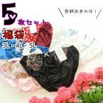 福袋 おまかせ5枚 婦人 レディース トリコットショーツ 大きいサイズ 3L・4L・5Lサイズ 【1セット(5枚)までゆうパケット可能】